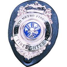 Strong Leather Police Clip On Badge Holder Standard Shield Black 71220 0002