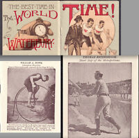 Baseball 1887 Sports Watch Waterbury Pope Bicycle Esterbrook Advertising Booklet