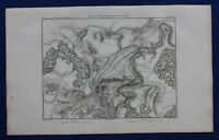Original antique map, RUSSIA, PRUSSIA, BATTLE OF FRIEDLAND, A.H. Dufour, 1859