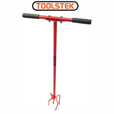 """32"""" Cultivator T Handle Cultivates and weeds Twisting Motion 4 Pronged Remover"""