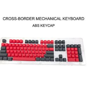 104PCS/SET KEYCAP DOUBLE TYPEWRITER MECHANICAL KEYBOARD FOR CHERRY MX MECHINE