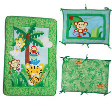 Fisher-Price Rainforest Jumping Tiger Crib Comforter W Head Board Discontinued