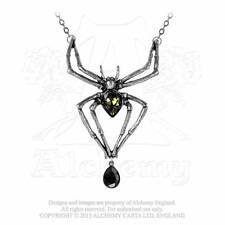 Tarantel Gothic Anhänger Spinne Spider Spinnen Amulett Collier ALCHEMY P432