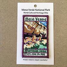 Official Mesa Verde National Park Souvenir Patch Cliff Palace 1906 Colorado
