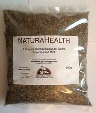 Herb blend of seaweed garlic rosehips and mint for horses Natura health 900g
