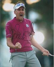 Ian POULTER SIGNED Autograph 10x8 Photo AFTAL COA RYDER Cup Fist PUMP RARE