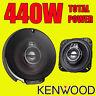 KENWOOD 440W TOTAL 3-WAY 4 INCH 10cm CAR DOOR/SHELF COAXIAL SPEAKERS NEW PAIR