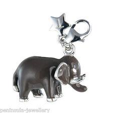 Tingle STERLING SILVER clip su elefante portafortuna con borsa regalo e Box sch178