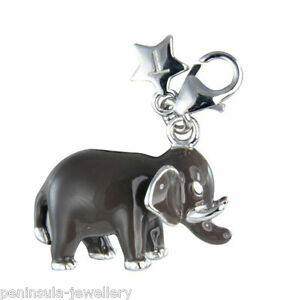 Tingle Sterling Silver Charm clip on Elephant with Gift Bag and Box SCH178