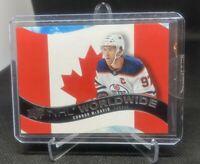 2020-21 UD Series 1 Hockey NHL Worldwide Canada Connor McDavid WW-7