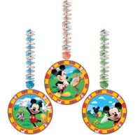 3 x Disney Mickey Mouse Clubhouse Birthday Party Dangling Cutout Decorations