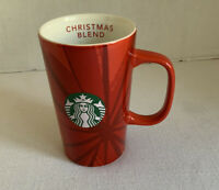 Starbucks Red Christmas Blend Coffee Mug Cup 12 oz 2014