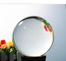 60mm Asian Rare Natural Quartz Clear Magic Crystal Healing Ball Sphere +Stand