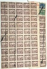 RO China stamps Tax.2 Revenue Stamps Intermodal transportation on a Real Receipt