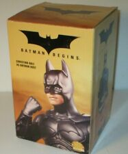 "New Batman Begins Batman Bust (Christian Bale) 2005 DC Direct 6.25"" Statue NIB"