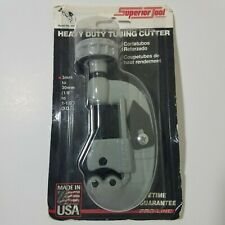 Superior Tool 35236 Heavy Duty Screw Feed Tubing Pipe Cutter 1/8'' to 1 1/8''