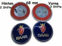 SAAB 2x 68mm Blau Motorhaube Emblem Aufkleber Auto vorne und hinten Abzeichen