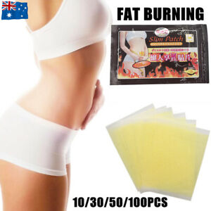 10/100PCS SLIMMING PATCHES BODY SLIM BURN FAT BELLY DETOX WEIGHT LOSS DIET PADS