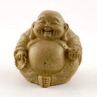 "NEW! 3"" Happy Buddha Figurine in Sandstone Finish Buddhism Gift Hotei Budai 4365"