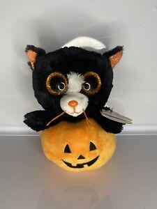 "Edgar The Cat Ty Beanie Boos Halloween 6""/15cm"
