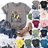 Womens Sweatshirt Bee Tee Loose Ladies Short Sleeve Blouse T Shirt Pullover Tops