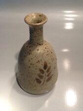 Guy de Pelteau Quebec Canada Canadian Studio Art Stone Pottery Signed Bud vase