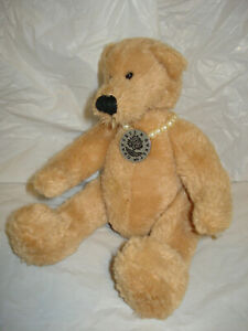 """RUSS BERRIE CRABTREE & EVELYN """"REBECCA"""" TAN BEAR LIMITED EDITION"""