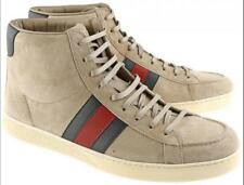 Gucci Light Gray Suede Leather High-top Sneakers '337221' Size 8.5 *VGC*
