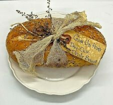 Primitive Handmade Give Us Our Daily Bread Realistic Display Prop Replica Faux