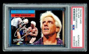 Ric Flair PSA/DNA 2006 Topps Chrome WWE #25 Autographed Auto Card HOF WWF
