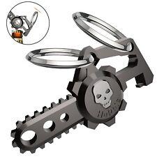 Hephis Skull Car Keychain Ring with Dual Rings for Men Women Bottle Opener Gift