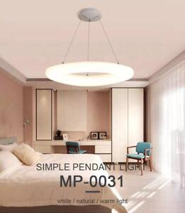 Lampadario Moderno Led Cerchio Luce Naturale 30W Sala Salotto Camera da letto