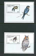 Y176 Georgia 1996 birds owls sheets MNH