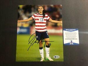 Alex Morgan Rare! signed autographed USA soccer 8x10 photo Beckett BAS coa