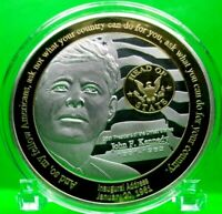 JFK - HEAD OF STATE COMMEMORATIVE COIN PROOF VALUE $99.95