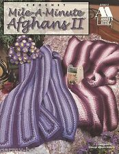 Mile a Minute Afghans #2 Elanor Albano-Miles Annie's Attic Crochet Patterns NEW