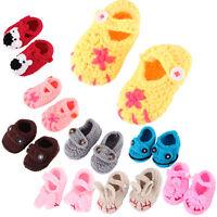 Cute  Newborn Infant Girls Boys Crochet Knit Sock Crib Shoes for 0-12 Month Baby