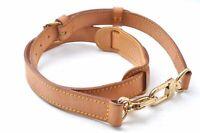 """Authentic Louis Vuitton Leather Shoulder Strap Beige 36.4-43.3"""" LV B7654"""