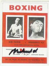 Muhammad Ali Signed Sporting Profiles Program Cover Trading Card Auto COA Foster