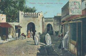 MOROCCO TANGER Trigo merchants 1910s PC