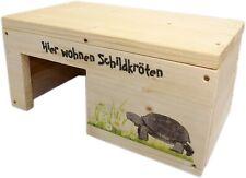 Schildkrötenhaus 35x20x17cm S Terrarium Schutzhaus mit Motiven & Holzlasur NEU