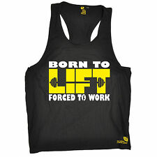 Born To Lift Forced To Work Muscle Vest Body Building Training Gift Christmas