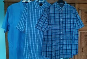 Three James Pringle short sleeve shirts - Size LARGE - never warn