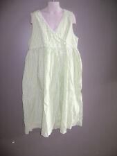 bella bliss GIRLS WRAP DRESS size 12 GREEN WHITE GINGHAM STUNNING