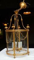 1950/60 Lanterne en bronze doré style LXIV H 59 cm D 36 cm