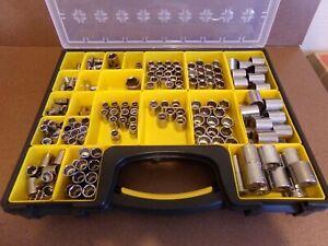 "Craftsman USA Metric MM & SAE Inch Std 1/4"" 3/8"" 1/2"" Shallow Socket 6pt & 12pt"
