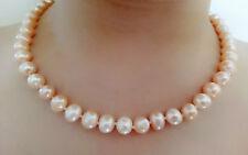 Collier de perles  naturelles d'eau douce 8-9mm rose clair