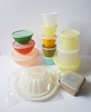 More details for vintage retro big joblot of 13 tupperware containers, jam pot, jelly mould,bowls