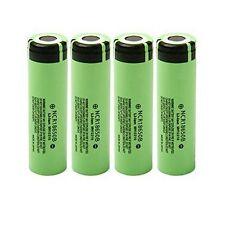 4pcs Genuine Panasonic NCR18650B 3400mAh Rechargeable Li-ion Battery Japan Made