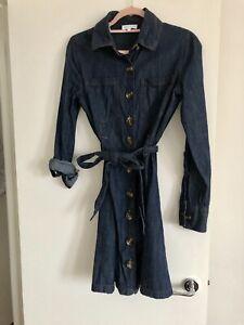 Warehouse denim style shirt dress size 8